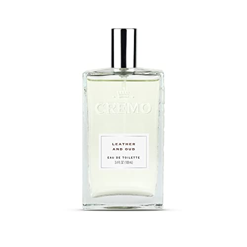 Cremo Cologne Spray, Leather & Oud, 3.4 Ounce