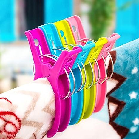 Doinshop - Juego de pinzas de plástico multicolor para costura, manualidades, pinzas para la toalla de playa, 2 unidades, 4 unidades: Amazon.es: Juguetes y ...