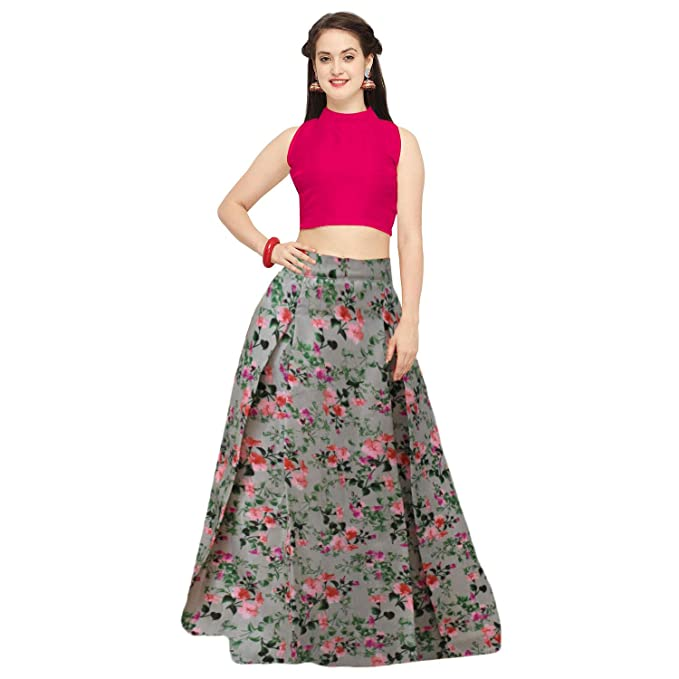 3ce4078601d Shelvinza S Other Lehenga Choli(Myra 2 Multicolor Free Size)  Amazon.in   Clothing   Accessories
