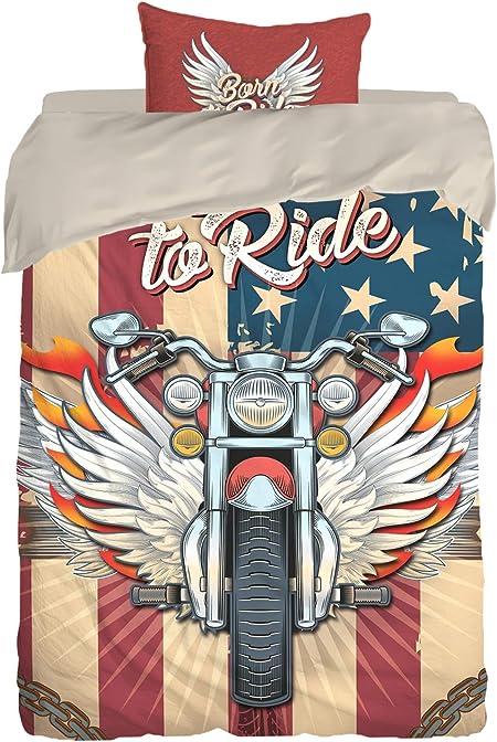 Copripiumino Harley Davidson.Personalized Motorcycle Bedding Born To Ride Set Copripiumino