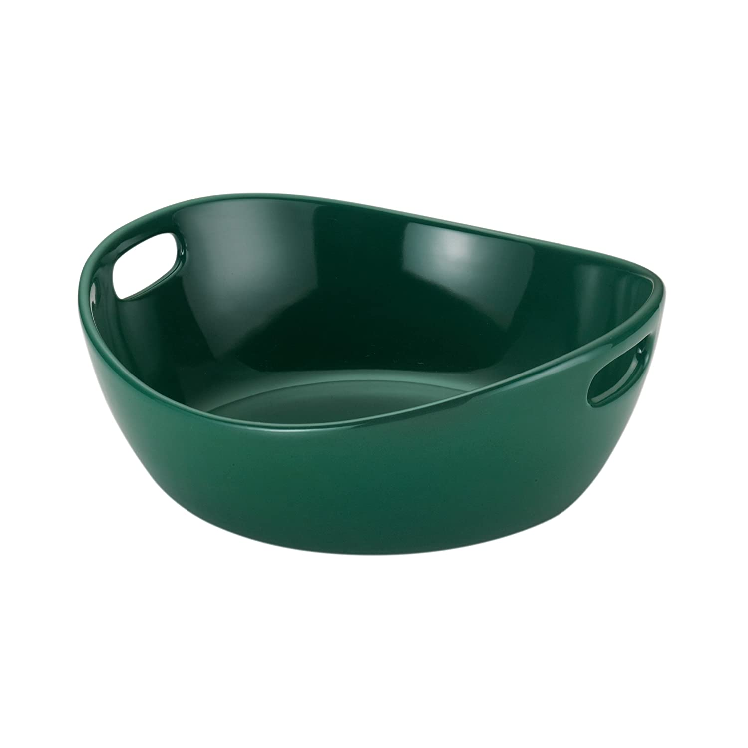 Rachael Ray Serveware 10-Inch Round Stoneware Serving Bowl, Fennel Meyer 58586