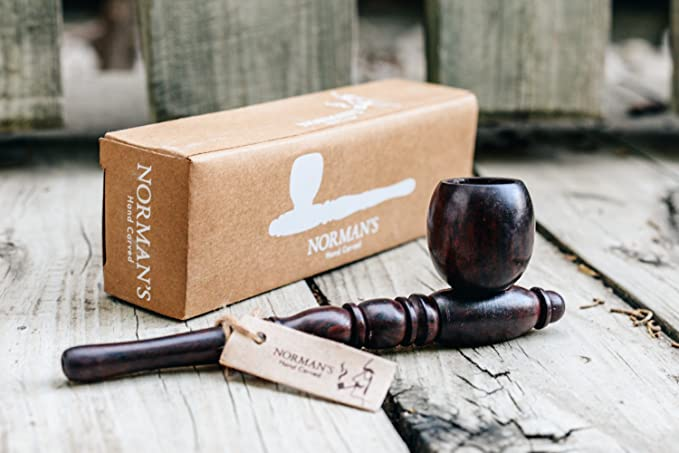 BUDBOMB tobacco pipe with extended smoke path in PatchouliWorld BLACK
