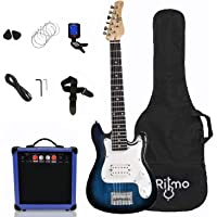 Kids 30 Inch Electric Guitar and Amp Complete Bundle Kit for Beginners-Starter Set Includes 6 String Tremolo Guitar, 20W…