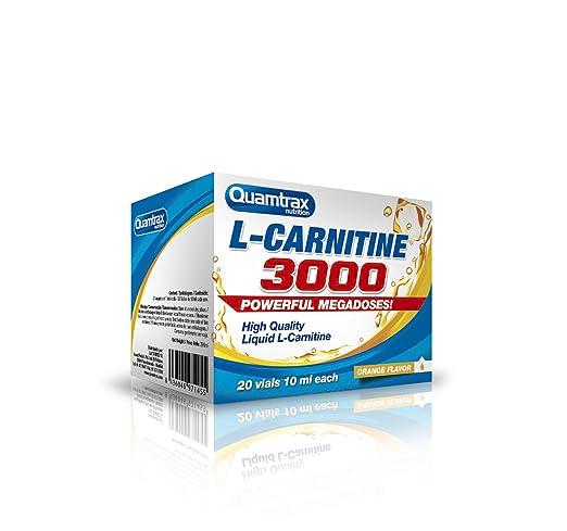 2 opinioni per Quamtrax Nutrition Supplemento Nutrizionale L-Carnitine 3000 20 Vials, Arancia-