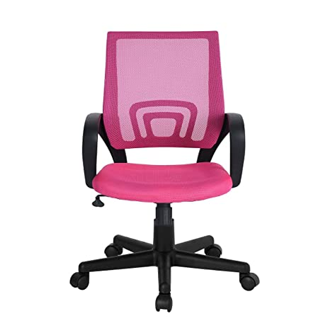 WOHOMO Christmas Gift For Your Girl Computer Desk Chair Pink Office  Executive Swivel Desk Task Chair
