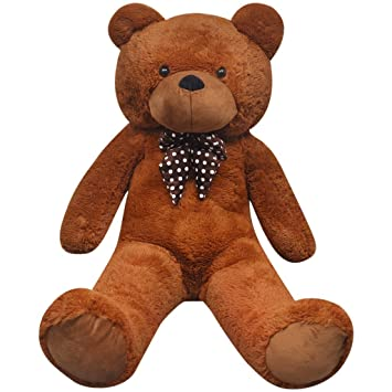 04249cad6204 Life Size Teddy Bear 100cm to 260cmTall XXL Huge Giant Soft Cute Cuddly Toy  Brown (100cm): Amazon.co.uk: Toys & Games