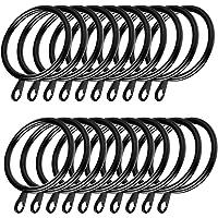 Coolty 60 Stück Metall Vorhangringe Hängende Ringe für Gardinenstangen zum Aufhängen von Vorhängen, 38 mm Innendurchmesser