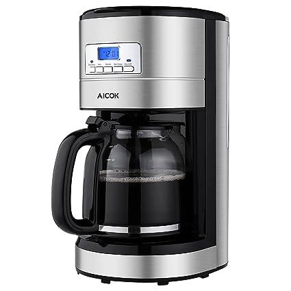 Aicok Coffee Maker, Coffee Maker Machine, Stainless Steel Coffee Maker, Organic Coffee Maker, Coffee Maker Kit, Programmable Coffee Maker with Timer, Coffee Maker 12, Large Coffee Maker.