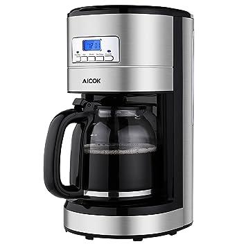 Amazon.de: Aicok Kaffeemaschine 12 Tassen, Filterkaffeemaschinen ... | {Filterkaffeemaschinen 6}