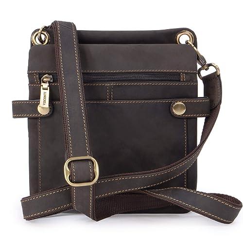 2b82fa8c30 Visconti Small Cross-Body Midi Messenger Bag - Hunter Leather - 18511 Neo (S
