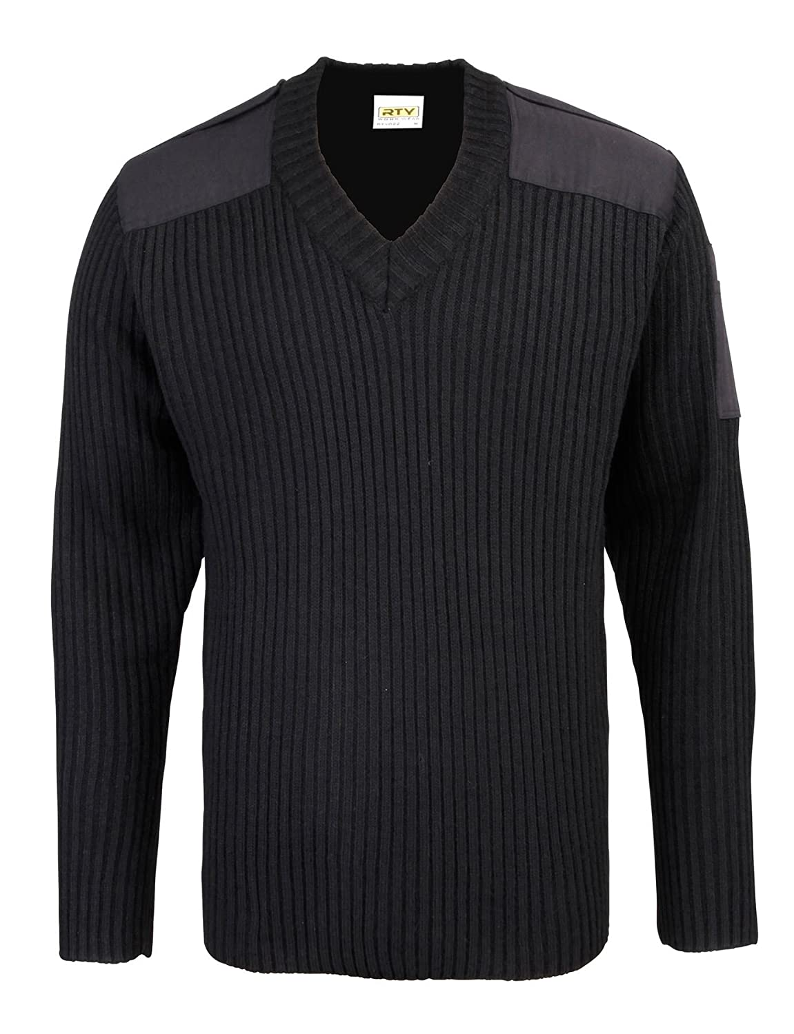 RTY-Mens-Security style v-neck sweater