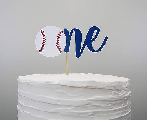 Fabulous Amazon Com Baseball One Cake Topper Handmade Funny Birthday Cards Online Necthendildamsfinfo
