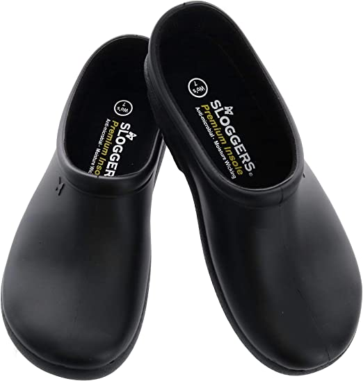Sloggers 260bk06 Size 6 Womens Black Premium Garden Clogs