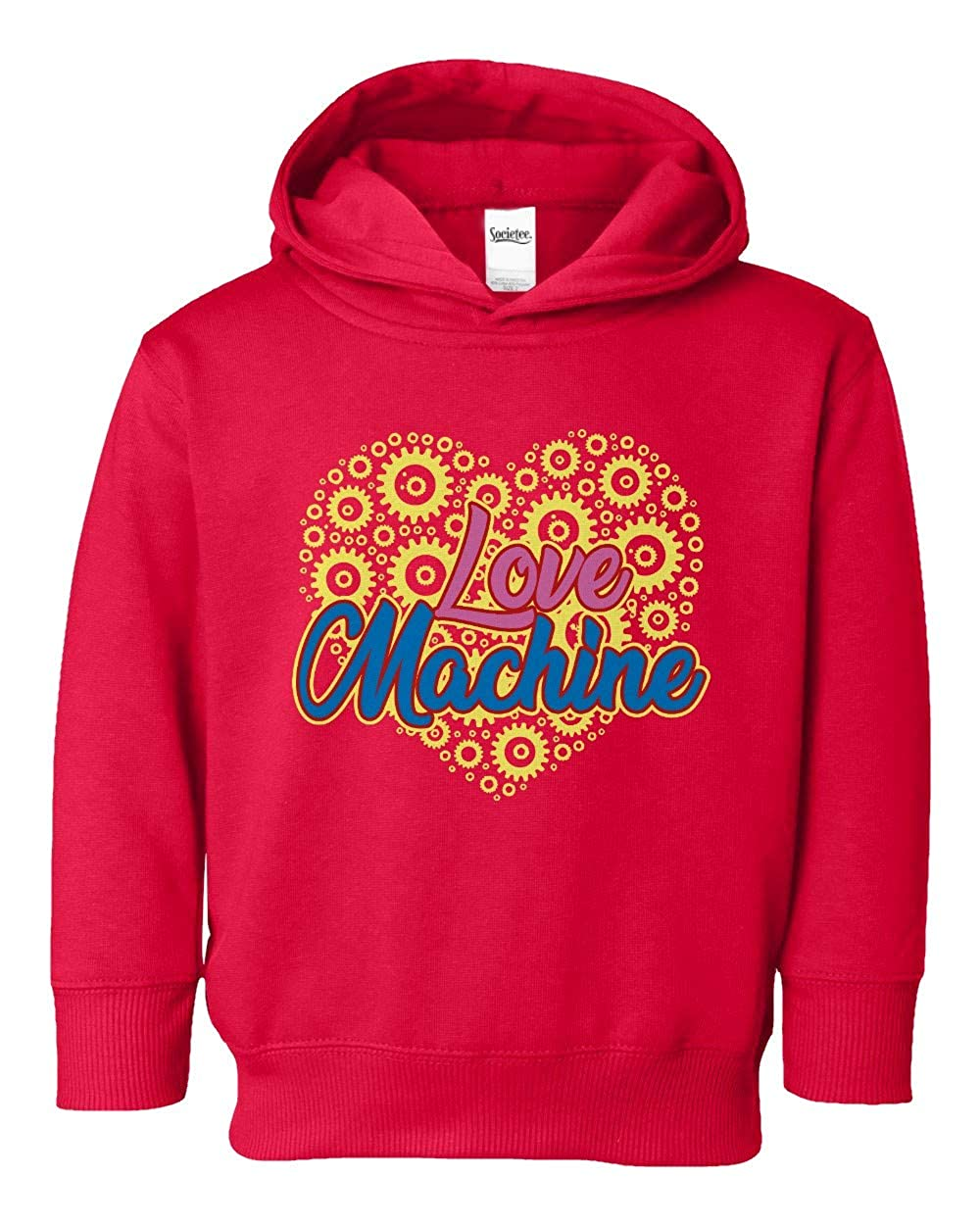 Societee Love Machine Adorable Cute Girls Boys Toddler Hooded Sweatshirt