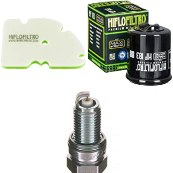 Filtro de aire Filtro de aceite Bujía Vespa GTS 300 i.e. Super Sport 2010 - 2013 Mantenimiento servicekit: Amazon.es: Coche y moto