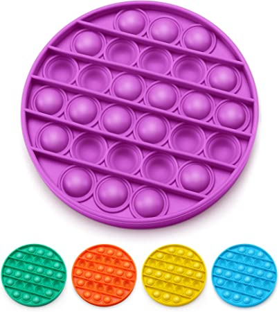 Silicone Fidget Toy Stress Relief and Anti-Anxiety Tools for Kids and Adults,Popping Fidget Novelty Gift for Boys and Girls Square Multicolor Pop Pop Bubble Fidget Sensory Toy