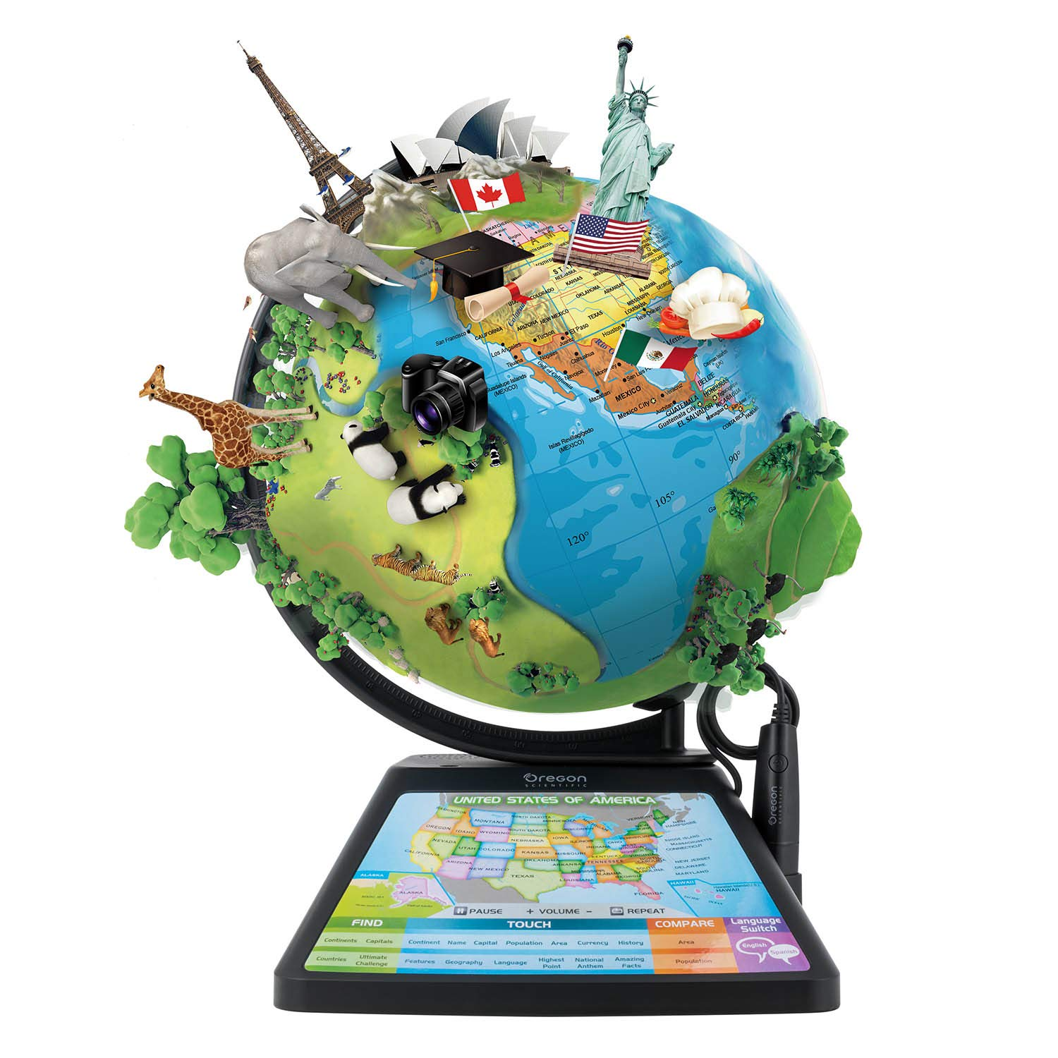 """Oregon Scientific SG268R-K (App based): Educational, Augmented Reality Based Globe 
