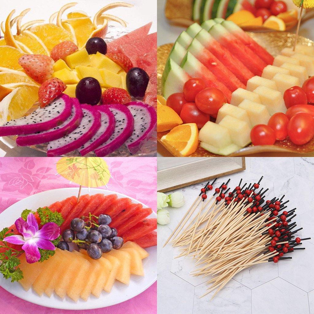 Guoyy 100pcs Perles Cocktail Cocktail en Bambou Cure-Dents Cure-Dents jetables Club