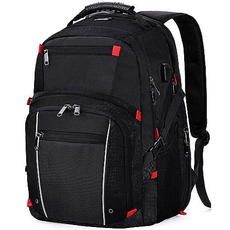 5c0fba51f7ea Laptop Backpack 17.3 Inch USB Charging Port Waterproof Large Business  Travel Bag College School Students Gaming