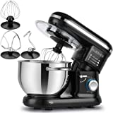 Albohes Food Stand Mixer Dough Blender, 5.5 L 1260W MAX, Noiseless Less Than 80, Low db UK (Beater, Hook, Whisk)