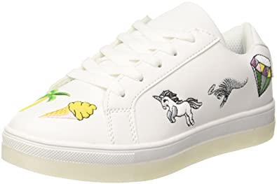 KangaROOS Unisex-Kinder K-Crew JR Sneaker, Weiß (White/Fantasy Summer), 35 EU