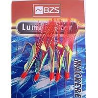 Mackerel fishing pack de 10 x assorties maquereau plume//paillettes rigs