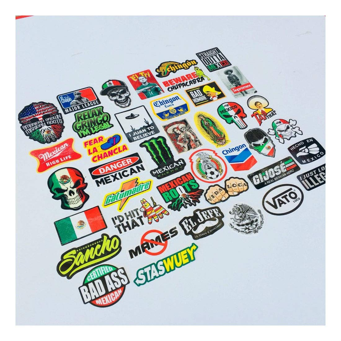 MEXICAN CHINGON Hard Hat Stickers 40 MEXICO HardHat Sticker Pegatinas cascos by Unknown (Image #7)