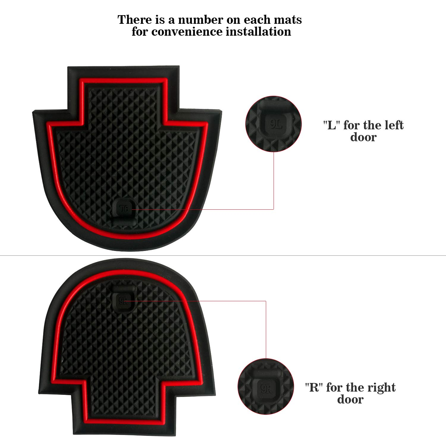 Pack of 16 Red Auovo Anti-Dust Custom Fit Cup and Center Console Liner Accessories for 2018 Ford Fusion Interior Door Compartment Liner Mats Inserts