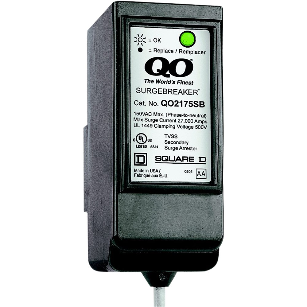 Square D by Schneider Electric QO2175SB QO SurgeBreaker Surge Protective Device Takes 2 Load Center Spaces