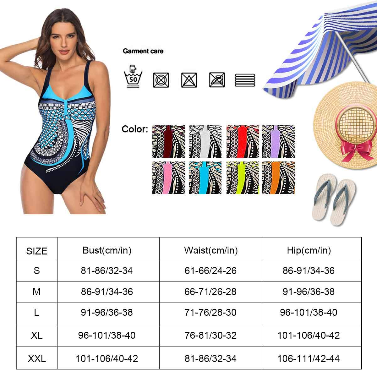 One Piece Costumi da Bagno Push Up Trikini Imbottito Backless Swimsuit Pin Up Costume Bohemian Beachwear Costumi Interi Donna