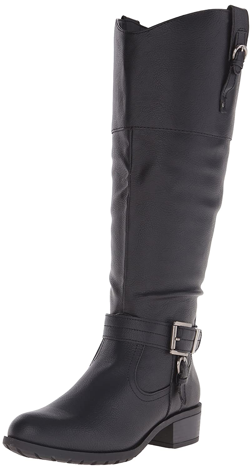 Rampage Women's Ivelia Fashion Knee High Casual Riding Boot (Available In Wide Calf) B076HMBT2W 6.5 M US Wide Shaft|Black