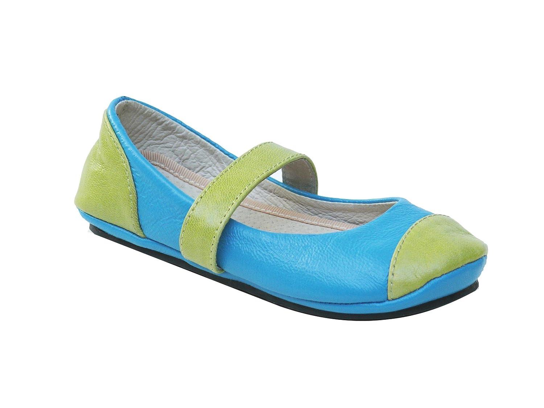 2 Scoops Shoes Lime Sorbet Girls Lambskin Ballet Flat
