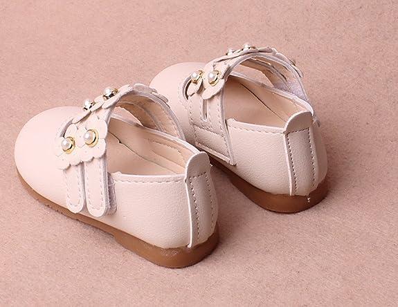 Topgrowth Scarpe da Bambina Sandali Floreali Scarpe di Pelle Principessa Neonata Ragazze Mary Jane Scarpe Singole Casual 3-24 Mesi (15, Beige)