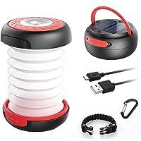 GlobaLink LED Campinglamp Solar Opvouwbare campinglamp Draagbare energiebank met 2 oplaadmethoden (zonne-energie / USB…