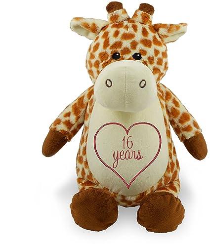 Amazon Com Personalized Stuffed Giraffe With Embroidered