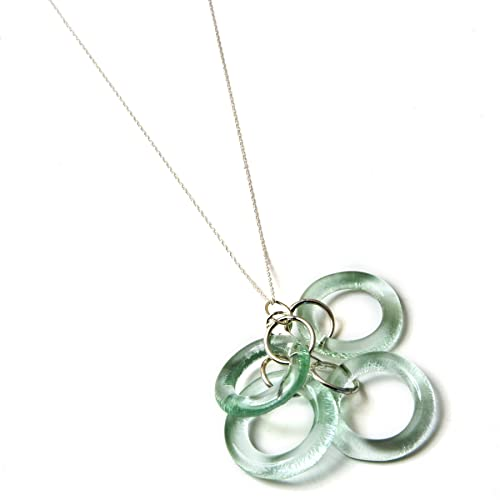 f08b0b7a123b11 Image Unavailable. Image not available for. Color: Smartglass Jewelry  Coca-Cola Recycled Bottle Glass Chandelier Necklace