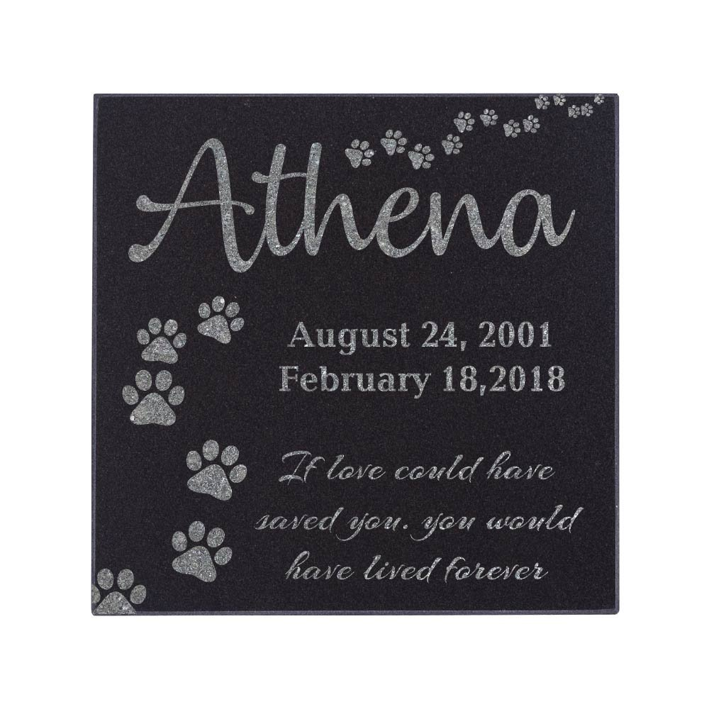 Memorial Pet Headstone - Loyal Companion, Dog and Cat Personalized Custom Granite Grave Marker D-4 by CustomizationMill