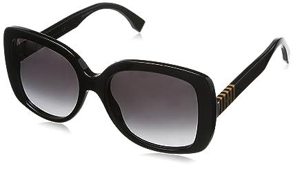 Amazon.com  Fendi Sunglasses - 0014 S   Frame  Black Lens  Gray ... 1d8096999d2ee