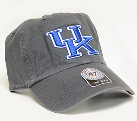 fe470cfce6f Amazon.com    47 Kentucky Wildcats Brand Clean Up Adjustable Hat - Charcoal    Sports   Outdoors