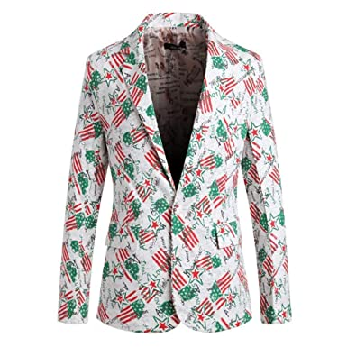 22a163f0bd4c Huixin Men's Blazer Slim Fit Notched Lapel Wedding Party Tuxedo Wedding  Prom Blazer Suit Jacket: Amazon.co.uk: Clothing