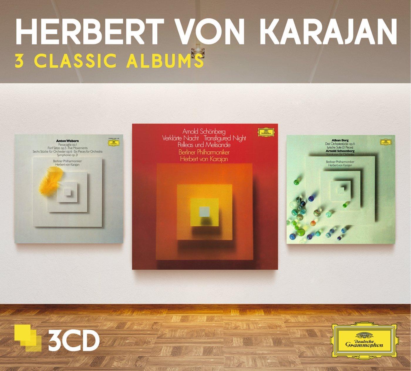 CD : Herbert von Karajan - Three Classic Albums (schoenberg/ Berg/ Webern) (Limited Edition, 3PC)