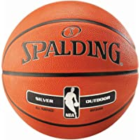 Spalding Silver Official NBA Heavy-Duty Composite Leather Basketball Indoor/Outdoor Size #7