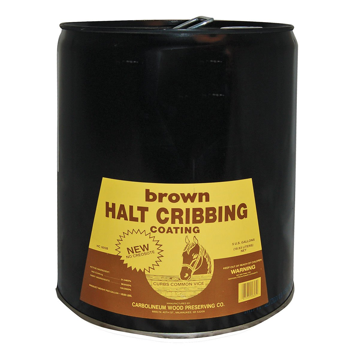 Brown Halt Cribbing, 5 Gallons
