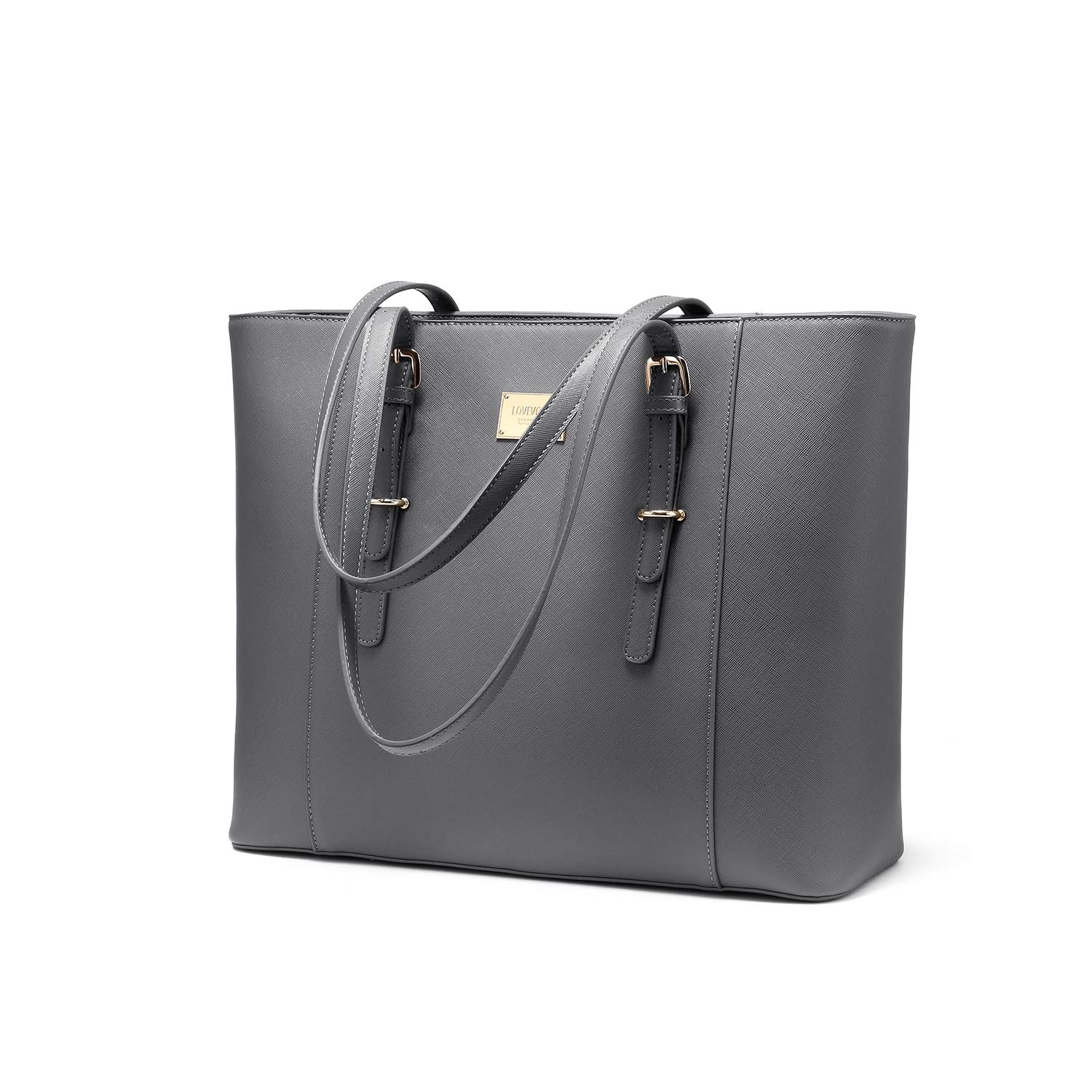 7fe387980c97 Laptop Bag for Women Large Office Handbags Briefcase Fits Up to 15.6 inch  (Updated Version)-Grey