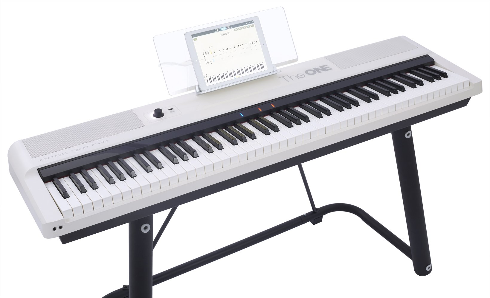 The ONE Smart Keyboard Pro, 88-Key Digital Piano Keyboard, Portable Digital Piano, Weighted Action Keys, White by The ONE Music Group (Image #6)