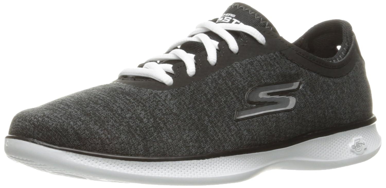 Skechers Damen Go Step Lite-Interstelllar Sneaker  5.5 B(M) US|Schwarz (Black Textile/White Trim)