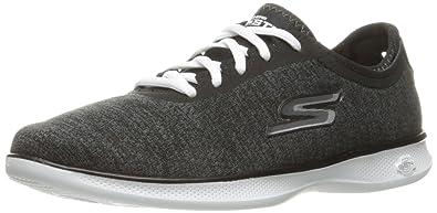 Skechers Performance Women's Go Step Lite Walking Shoe,Black/White,5 ...