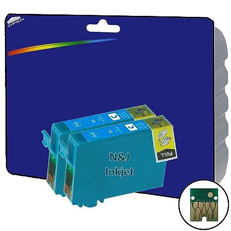 2 Cian cartuchos de tinta XL no OEM Compatible para Epson ...