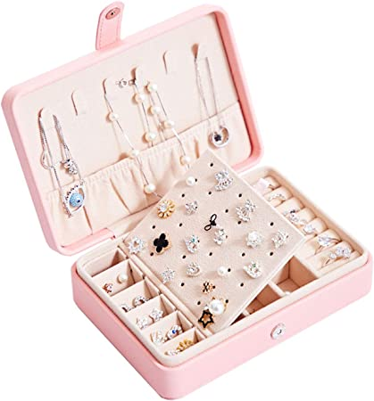 Boîte à Bijoux Voyage Boîte Bijoux Femme Enfant Fille Organisateur pour