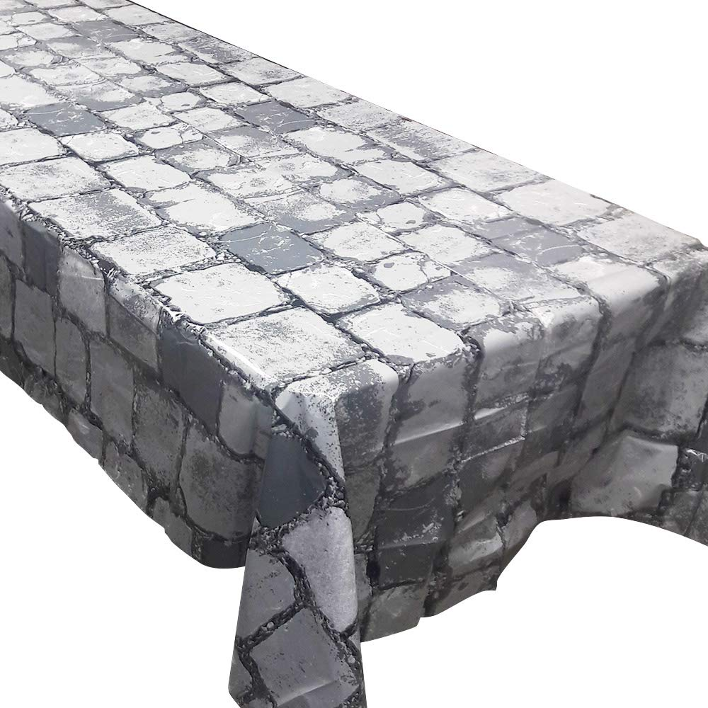 Blue Orchards Cobblestone Tablecovers (2), Medieval Party Supplies, Knight Themed Events, Pixel Parties, Castle Table Settings